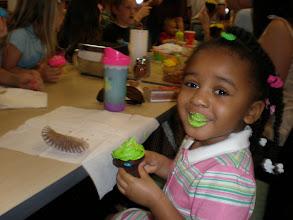 Photo: mmmmm -- green cupcakes are good!