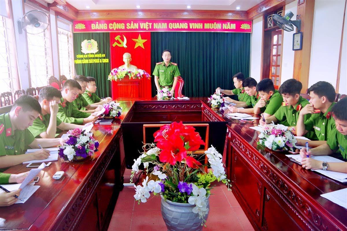 Hội nghị Ban Chấp hành Đoàn TNCS Hồ Chí Minh Phòng Cảnh sát PCCC&CNCH.