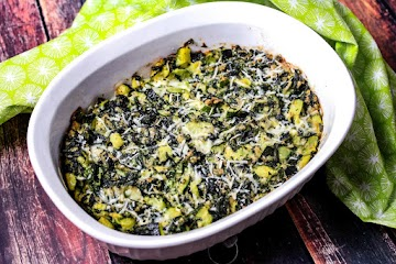 Spinach And Zucchini Vegetable Bake Recipe