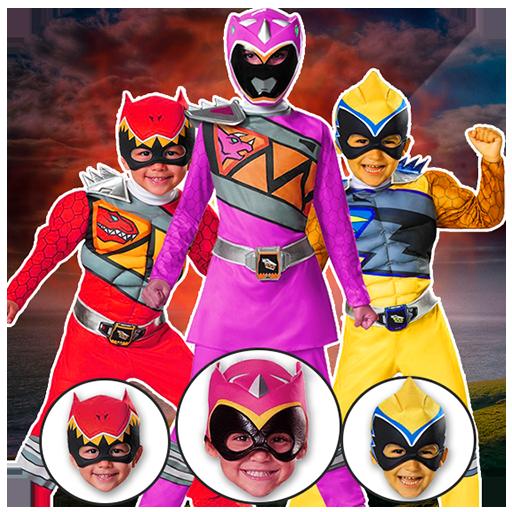 Power hero rangers Masks : change face morph