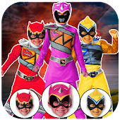 Power hero rangers Masks : change face morph