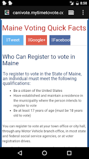 MyTimeToVote- screenshot thumbnail