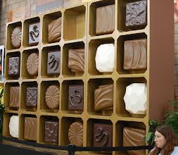 Photo: giant wall of fake chocolate? not fair, Fair!