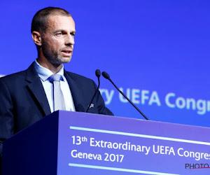 Le président de l'UEFA est indigné