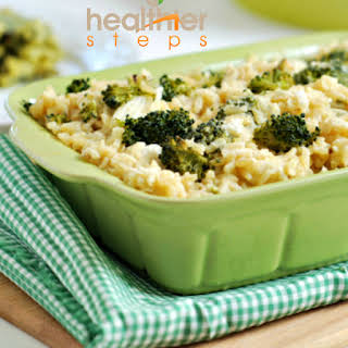 Vegan Broccoli and Rice Casserole (Gluten Free).