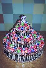 Photo: Gus' 3rd Birthday Tootsie Cake