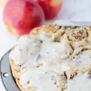 Vegan Ambrosia Apple Pie Cinnamon Rolls.
