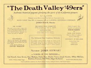 Photo: Program from the 1949 Death Valley Centennial Celebration (inside).