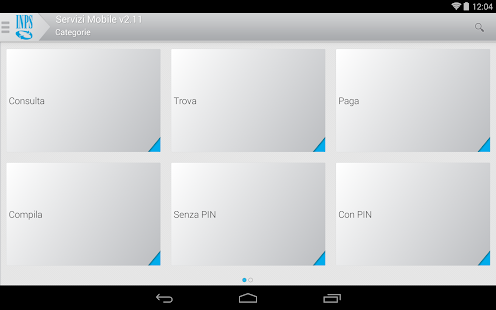 INPS Servizi Mobile per Tablet- screenshot thumbnail