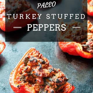 Paleo Turkey Stuffed Peppers.