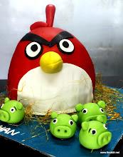 Photo: Angrybird Fondant themed cake