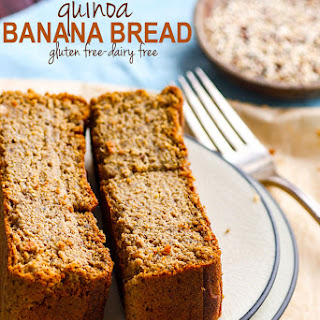 Gluten Free Banana Bread made from Quinoa