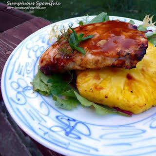 Grilled Honey Pineapple Teriyaki Chicken.