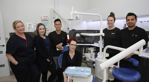 Experteeth Narrabri team members ar donating their time and professional skills to assist local drought affected families. From left, dental assistants Karissa Boonstra and Billie Strong, dentist Dr Carl Pan, dental assistant Lisa Dickinson, receptionist Holly Moore and dentist Dr Ash Kaphle.