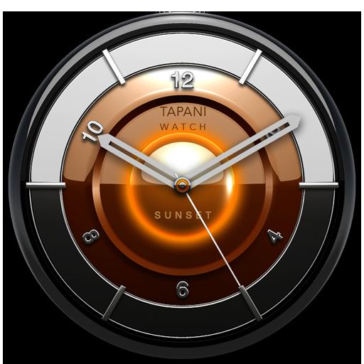 SUNSET Designer Clock Widget