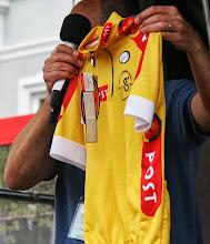 Photo: Den gule trøje, som bæres af løbets førende rytter