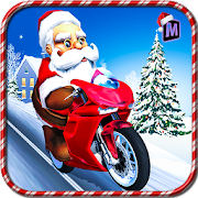 Santa Christmas Moto Gift Delivery Game