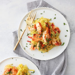 Spaghetti Squash with Garlic Herbed Butter + Lobster Recipe