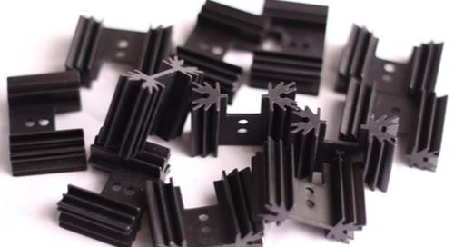 Black aluminum heat sinks