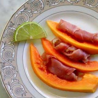 Papaya, Prosciutto, and Lime.