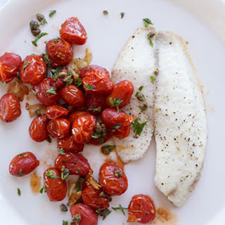 Roasted Tilapia, Tomatoes and Garlic