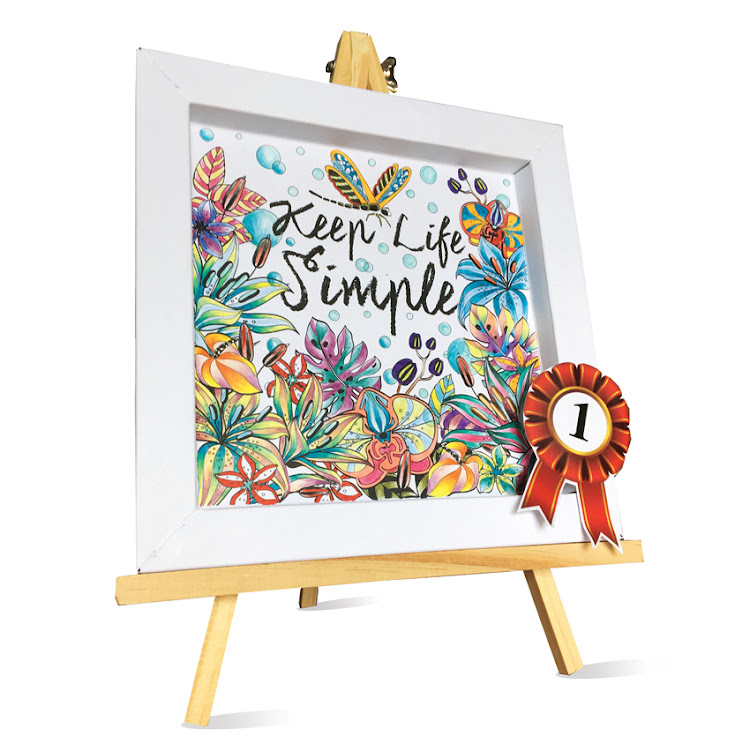 4 Set of Happy Home Design DIY Foldable Frame Art - ColorFrameArt
