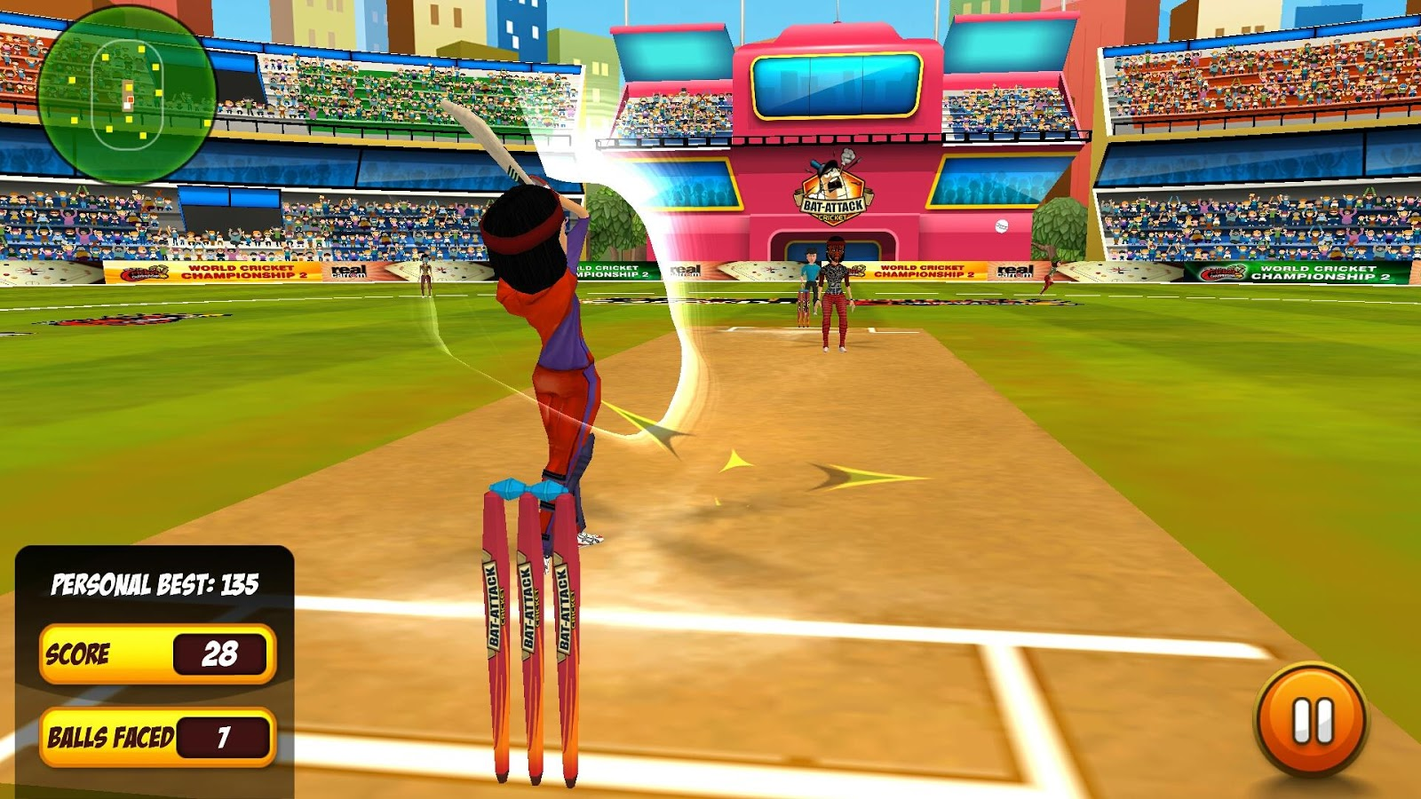 Bat Attack Cricket Multiplayer- screenshot