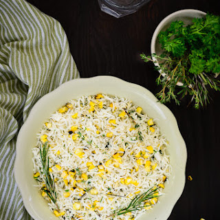 Roasted Corn and Herb Rice