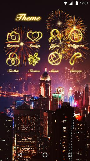 Neon Light Theme - Fire Flowers Theme 2018 1.0.0 screenshots 3