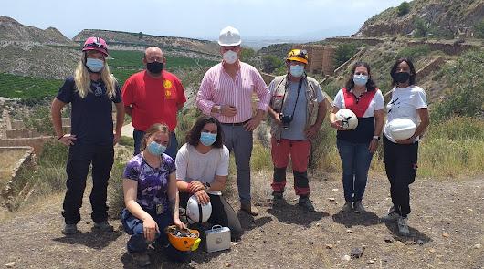 Una universidad francesa estudia la geología de una mina de Cuevas del Almanzora