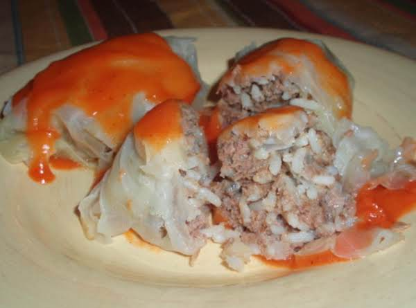 Steamed Cabbage Beef Rolls With Sauce