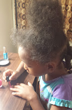 Photo: Lou paints her own nails
