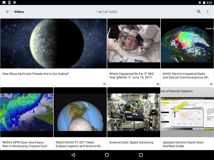 Screenshot 9 for NASA.gov's Android app'