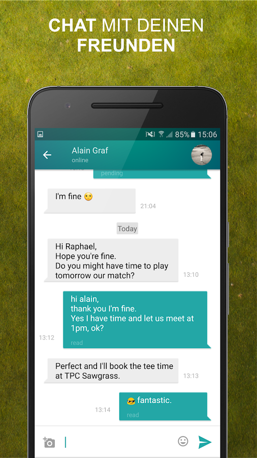 THE MATCHPLAYER - players for a real game of golf- screenshot