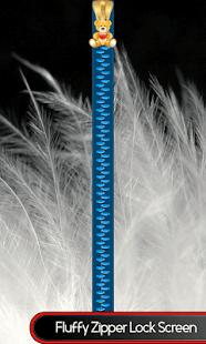 Načechraný zip zámek obrazovky - náhled