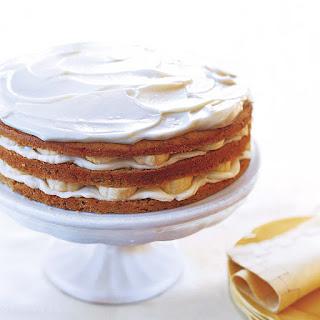 Banana Layer Cake with Mascarpone Frosting Recipe