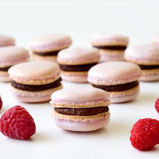 Raspberry Chocolate French Macarons.