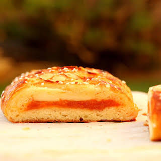 Danish Braid with Apricot and Confectioner's Cream Filling.
