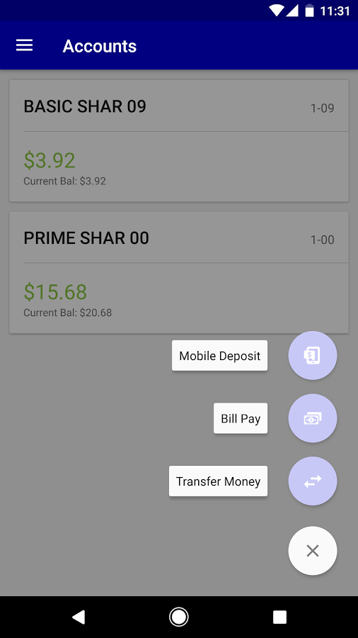 ABE FCU Mobile Banking- screenshot