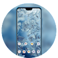 Icy feathers theme \ huawei p smart wallpaper