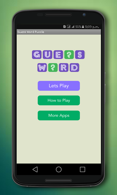 Guess Word Puzzle - Puzzle of Word