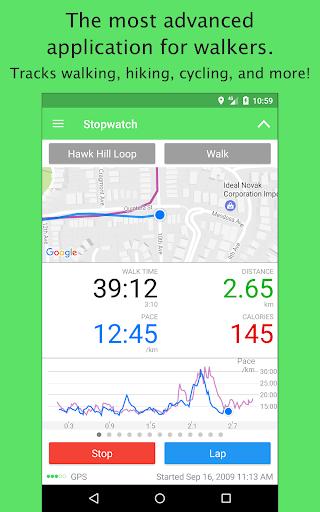 Walkmeter GPS Pedometer - Walking, Running, Hiking screenshot 1