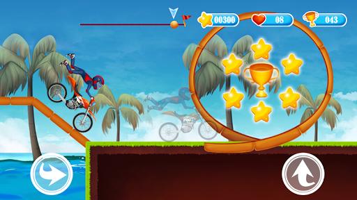 Hills Moto Racing Game - Super Boy Stunt Jump  captures d'écran 1