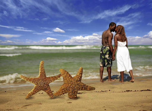 Holiday club sharks favour couples and flatter their prey. They often use the beach as a setting for their sales pitch, says the writer.