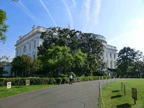 Photo: Last look walking away from the White House
