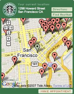 Starbucks meeting planner Google Gadget