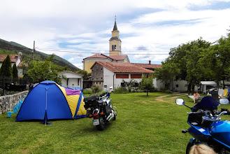 Photo: Kemp w Vrchopolje. Kościól dał nam się nieźle we znaki ;-)