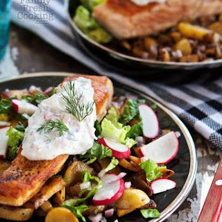 Pan Seared Salmon with Potato Hash