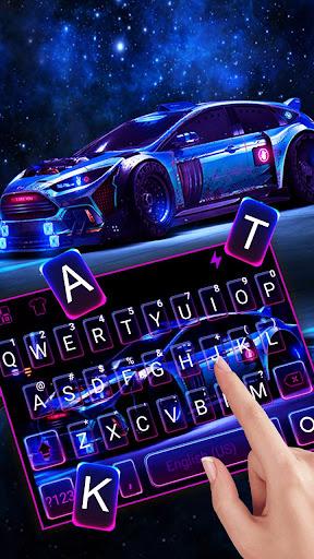Racing Sports Car Keyboard Theme screenshots 2