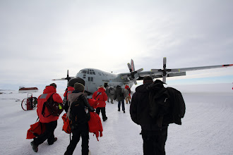 Photo: Our flight off the ice